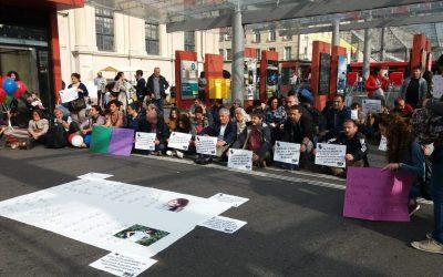Protest gegen Kindesmissbrauch