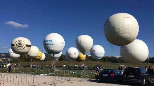 Gasballone über Bern