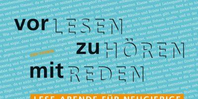 Lesen, Hören, Reden: Gemeinsame Leseabende