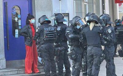 Konflikte zwischen Polizei und Demonstrantinnen auf der Frauen-Demo in Zürich