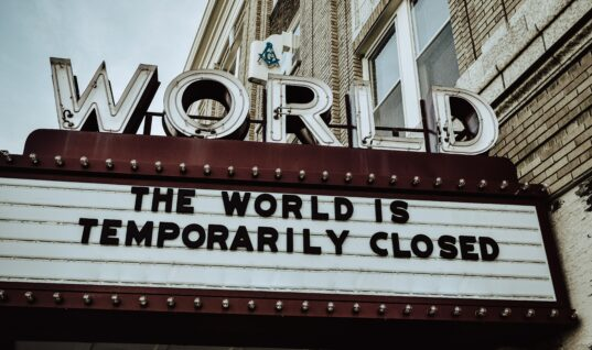 The World is Temporarily Closed letters